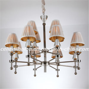 Fancy Iron Chandelier Lamp with Fabric Shade (SL2051-8+4) pictures & photos