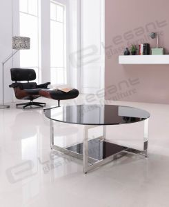 Stainless Steel Center Table, Glass Coffee Table Ca837 pictures & photos