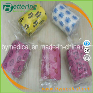 Animal Printing Non Woven Cohesive Flexible Vet Pet Bandage pictures & photos