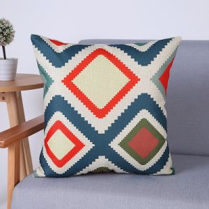Digital Print Decorative Cushion/Pillow with Geometric Pattern (MX-61A/B/C/D/E/H) pictures & photos