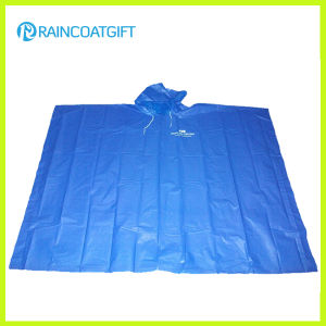 Disposable Blue PE Rain Poncho for Promotion (Rpe-012) pictures & photos