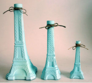 Decoration Eiffel Tower Shaped Glass Bottles