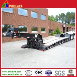 3 Axles 50 Tons Low Bed Semi Trailer with Detached Gooseneck pictures & photos