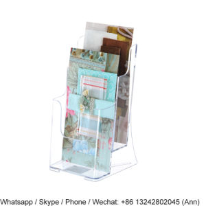 2-Tiered Acrylic Brochure Holder for Tabletops pictures & photos