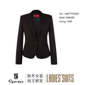 OEM Peak Lapel Women′s Business Suit pictures & photos