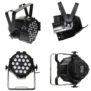 White or Black 18*10W RGBW 4in1 or Rgbwau 6in1 Aluminum Stage Wedding LED PAR Light pictures & photos