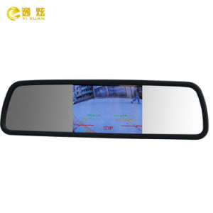 "4.3"" Clip-on Car Rear View Mirror Monitor White Mirror"