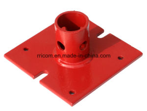 Powder Coated Scaffold Steel Shoring Base Plate for Scaffold Frames pictures & photos