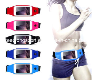 Customized Popular Lycra Waist Phone Case, Lycra Waist Bag for iPhone