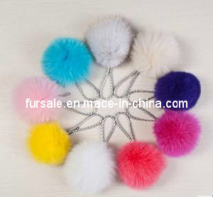 Fox Fur Ball Keychain Many Color (F-02)
