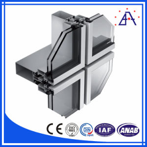 DIN Standard Aluminum Window and Curtain Wall/Aluminium Curtain Wall Profile pictures & photos
