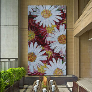Artistic Drawing Room Decoration Chrysanthemum Mosaic Wall Tiles