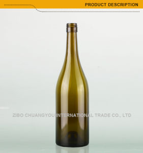 Wholesale Stock 750ml Burgundy Glass Bottle with Bvs Top (371) pictures & photos