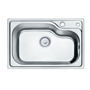 Oppein Single Irregular Bowl Brushed SUS Kitchen Sink (OP-PS316-TC) pictures & photos