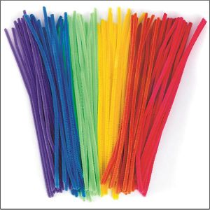 "Chenille Stems 12""X6mm - Neon Colors (pack of 100) (TR31)"