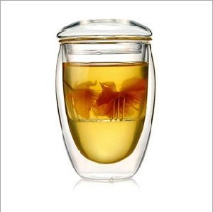 350ml (12oz) Double Wall Glass Tea Cup pictures & photos