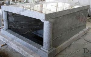 Column Polishing Grey Granite Mausoleum for Cemetery