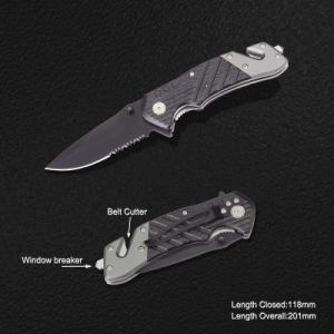 Survival Knife with Window Breaker & Belt Cutter (#3897) pictures & photos