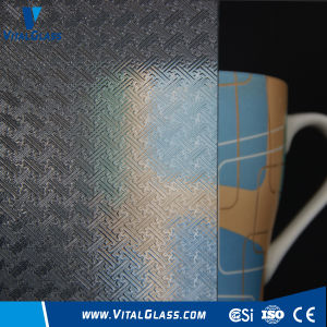 3-6mm Clear Fylfot Patterned Glass with CE&ISO9001 pictures & photos