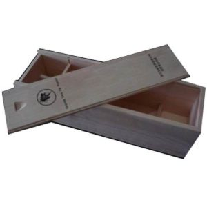 Wooden Wine Box with Hot-Stamping / Folding Wine Box with Glass Cup pictures & photos