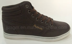 Fashion Brown High Top Casual Shoes pictures & photos