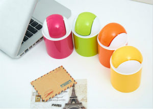 Mini Colorful Desktop Dustbin High Quality Waste Can pictures & photos