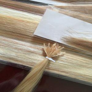 100% European Remy Keratin T Tip Human Hair Extension pictures & photos