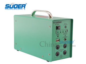 Suoer Low Price 12V 7ah Home Use Portable Mini Solar Power Supply Generator with LED Light (ST-A02) pictures & photos
