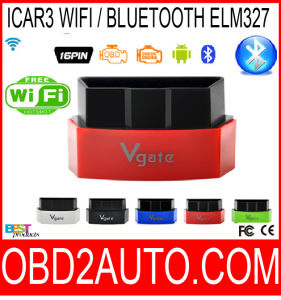 Vgate Icar3 WiFi Bluetooth Elm327 Support All Obdii Protocols Cars Icar 3 Code Reader for Android/ Ios/PC