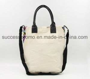 Graffiti Canvas Tote Bag with PU Handle (OEM Orders Are Welcome) pictures & photos