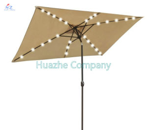 2X3m Square LED Umbrella Garden Umbrella Patio Umbrella Outdoor Umbrella Solar LED Umbrella pictures & photos