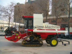 Big Crawler Type Rice Harvester Machine with Big Grain Tank pictures & photos