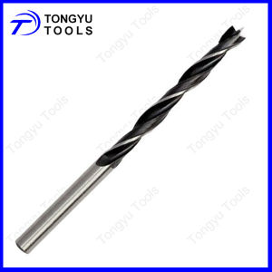 Black&White Roll Forged Brad Point Wood Drill Bit for Wood Drilling
