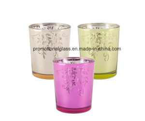 Metallic Floral Tealight Candle Holder for Promotional pictures & photos