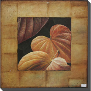 Hand Painted Leaf Oil Painting on Canvas (LH-500948) pictures & photos