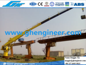 Hydraulic Telescopic Boom Pedestal Marine Ship Deck Marine Crane pictures & photos