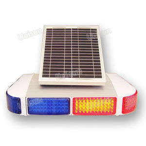12V Solar-Power Blue Red LED Traffic Flash Signal Warning Light pictures & photos