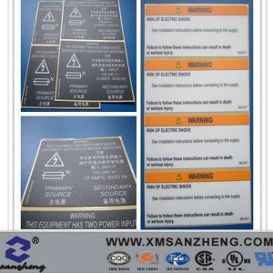 Custom Self Adhesive Matte PC Warning Stickers pictures & photos