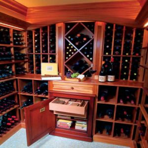 Solid Wood Wine Rack/Wine Cabinet pictures & photos