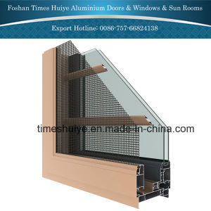 Aluminium Window with Protective Grills/Grids pictures & photos