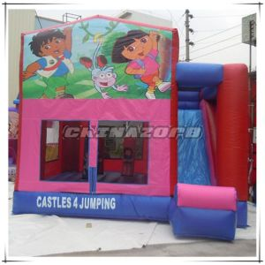 Dora and Diego Cartoon Theme Inflatable Jumping Castle with Slide pictures & photos