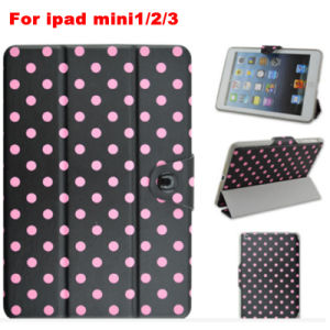 Fashion 3 Folded Beads Printing Tablet Case for iPad Mini1/2/3