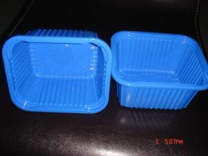 Wholesale Food Packaging Black Clear Disposable Plastic Mushroom Container Tray pictures & photos
