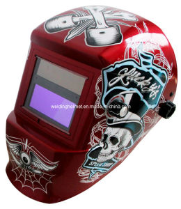 Speed Skull/Solar Powered Welding Helmet 92*42mm (G1190TC) pictures & photos