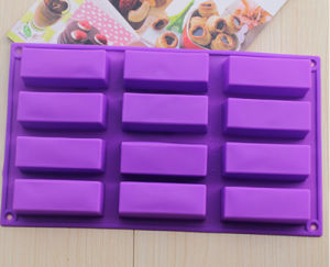 Custom Design Silicone Bakeware Rectangular Shape Silicone Cake Mold Silicone Mold for Cake Fandant Cholocate Jelly