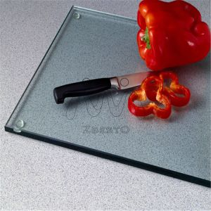5mm Clear Float Tempered Kitchen Glass Cutting Board pictures & photos