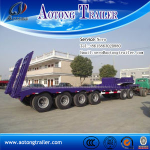 Competitive Price 3 Axles 80t Low Bed Semi Trailer pictures & photos