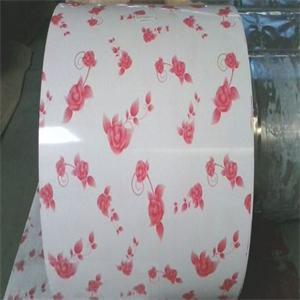 Factory Price White Bottom Purple Print Flower PPGI in Coil pictures & photos