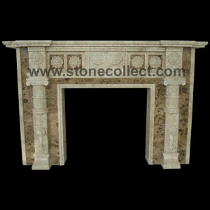 Fireplace Surround Made of Dark Emperador Marble pictures & photos