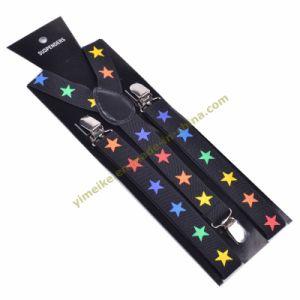 Colorful Star Print Unisex Elastic Suspender 2.5*100cm (BD1009-52) pictures & photos